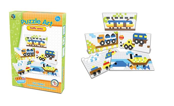 Пазл Same Toy Puzzle Art Traffic serias 222 эл. 5991-4Ut